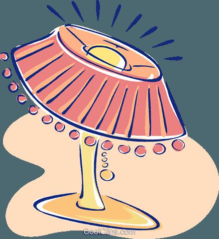 440x480 Living Room Lamp Royalty Free Vector Clip Art Illustration