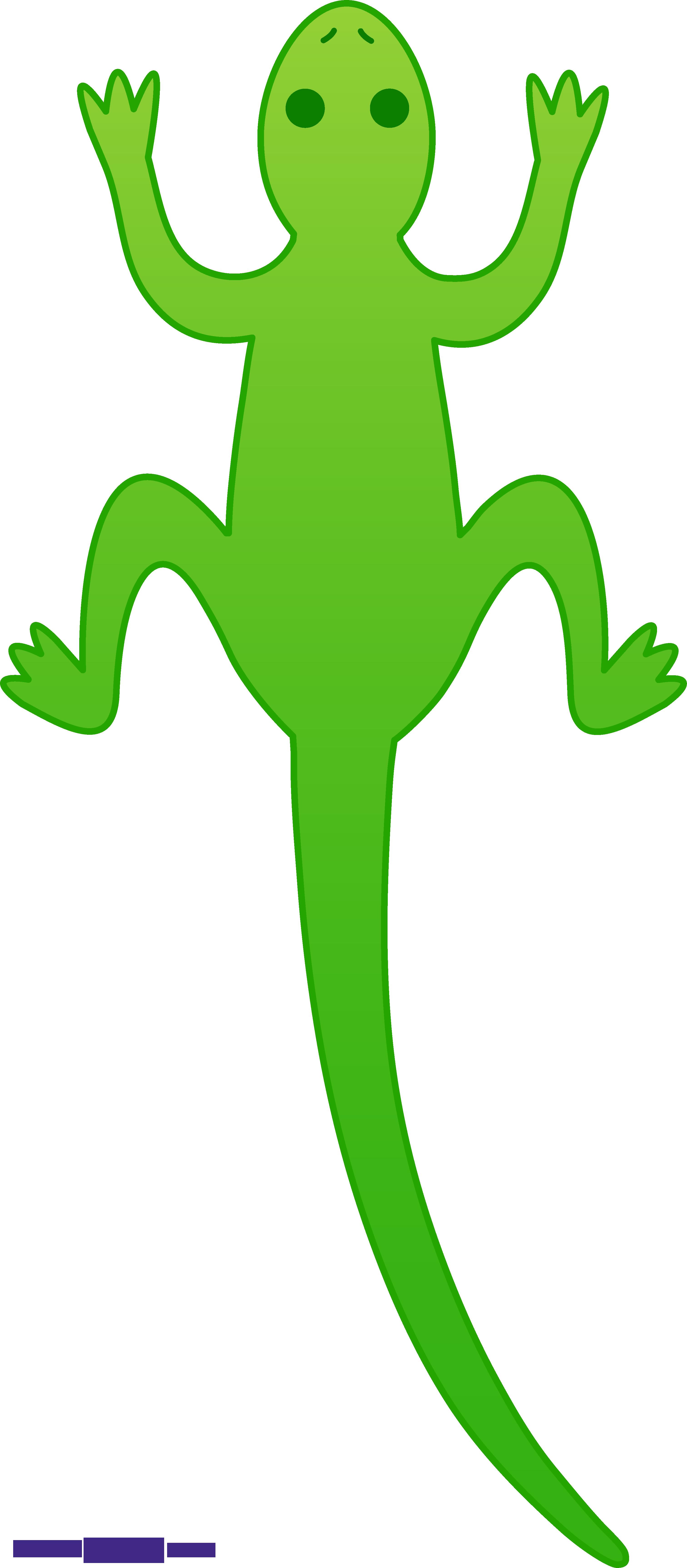 3026x6908 Lizard Green Clipart