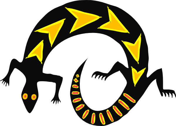 600x428 Free Vector Lizard Clip Art Clipart Panda
