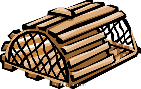 480x303 Lobster Trap Royalty Free Vector Clip Art Illustration Indu0289
