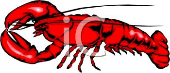 350x152 Picture Of A Cartoon Lobster In A Vector Clip Art Illustration