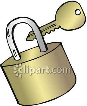 289x350 Key And Padlock Clip Art