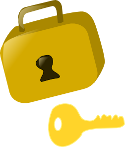252x296 Lock And Key Clip Art Free Vector 4vector