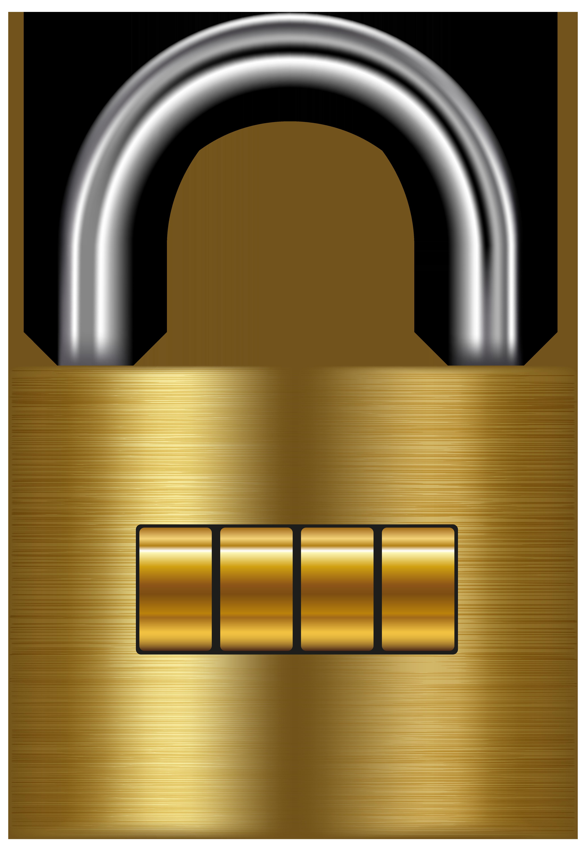 4126x6000 Lock Gold Png Clip Art
