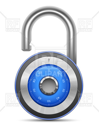 324x400 Security Combination Lock Icon Royalty Free Vector Clip Art Image