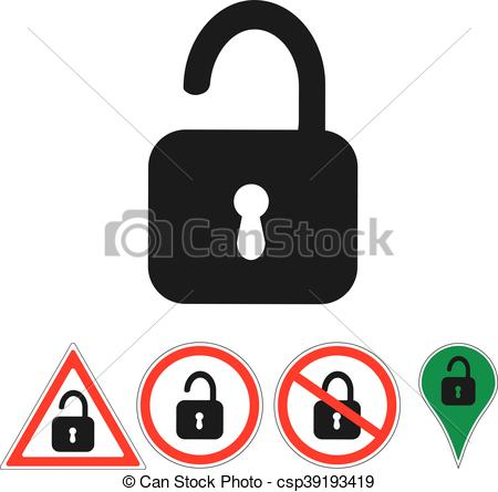 450x445 Signs Open Lock On White Vector Clip Art