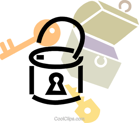 480x426 Padlock With Lock Box Royalty Free Vector Clip Art Illustration