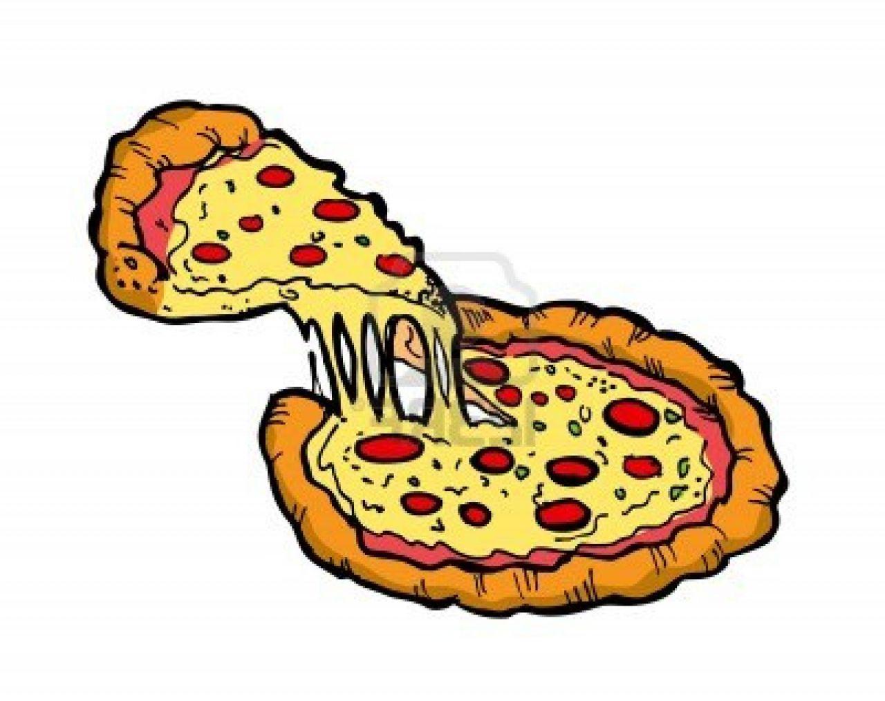 1280x1014 Group Of Pizza Clip Art Cartoon