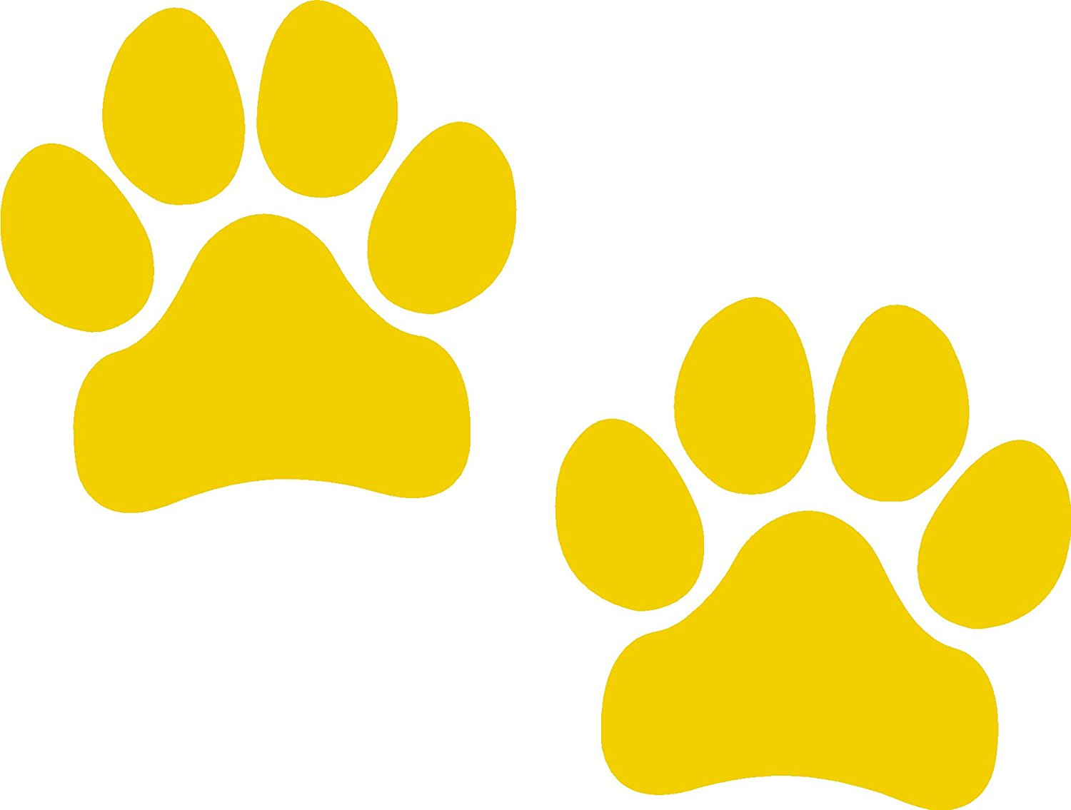 1500x1135 Yellow Paw Print Clipart Amp Yellow Paw Print Clip Art Images