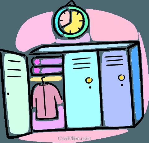 480x462 School Lockers Royalty Free Vector Clip Art Illustration Vc064597