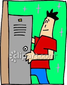 279x350 A Teenage Boy Getting Into His School Locker