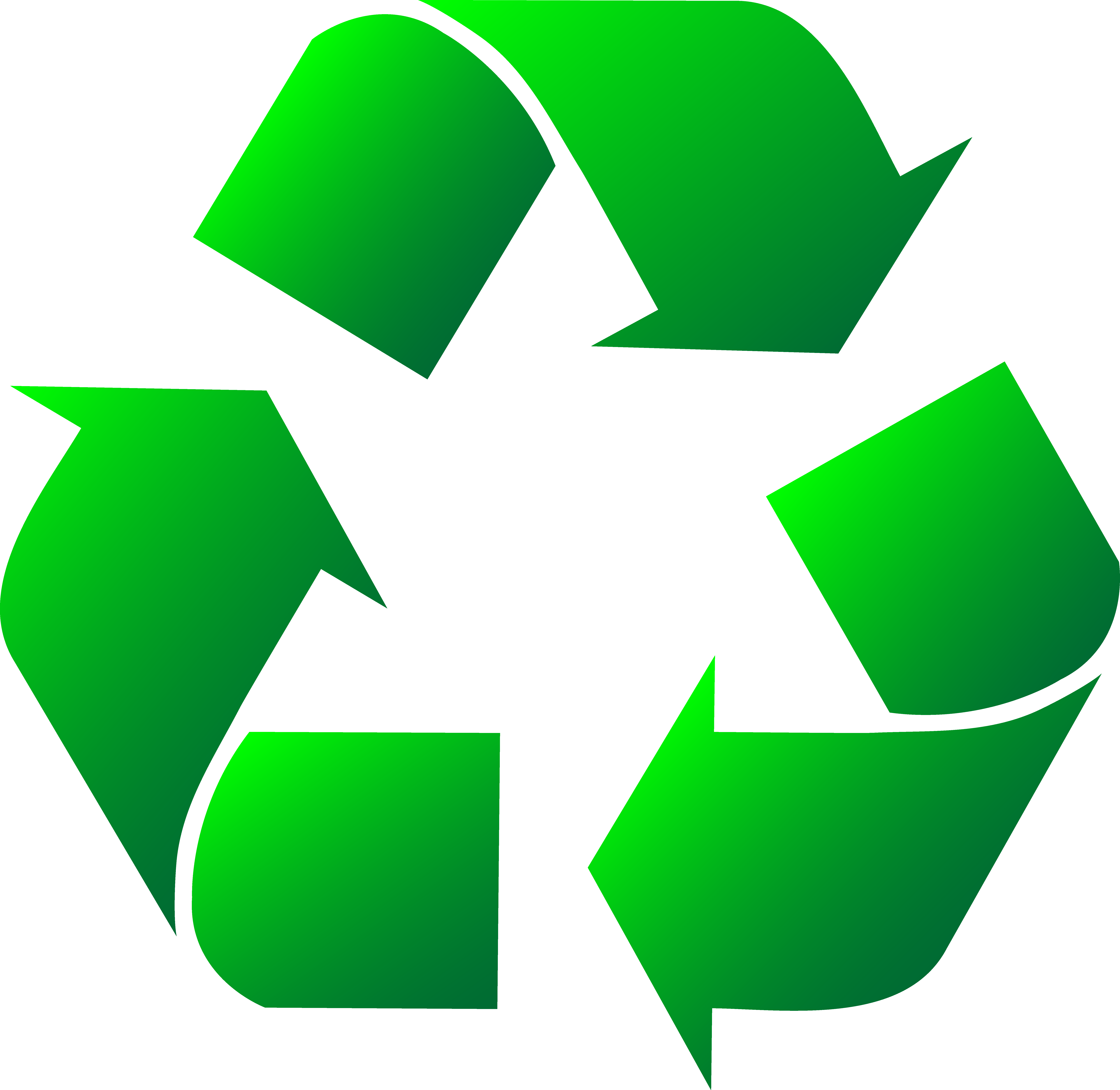 7357x7159 Green Recycle Logo Clipart