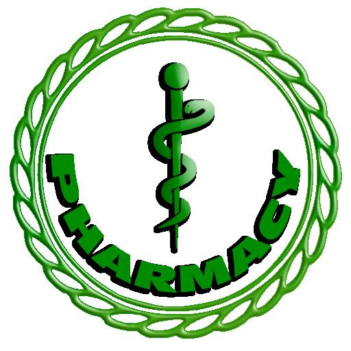 512x512 Green Pharmacy Logo Clipart Image