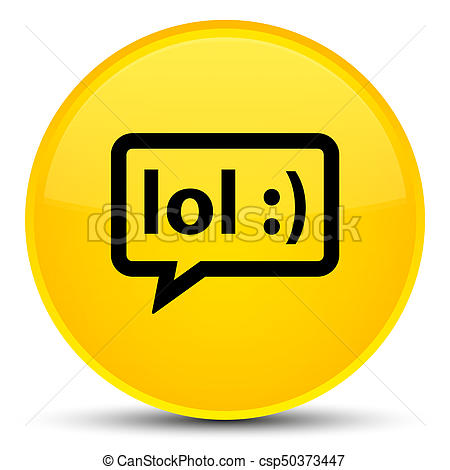 450x470 Lol Bubble Icon Special Yellow Round Button. Lol Bubble Icon