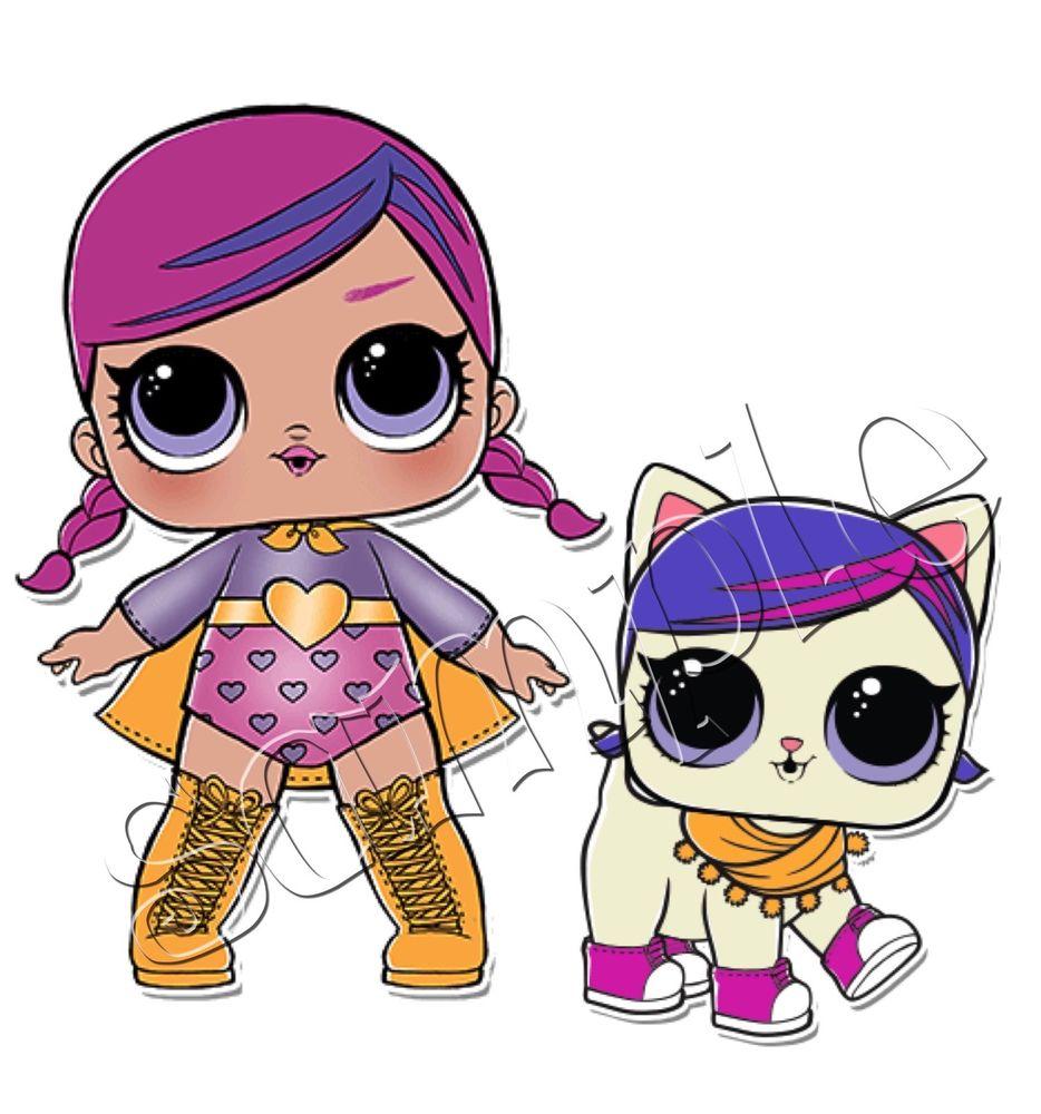 934x1000 Iron On Transfer Lol Doll Dolls Surprise Pet Super Bb B.b Su Prr