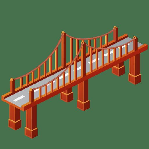 512x512 Clever Design Bridge Clipart Transparent Png Stickpng Black