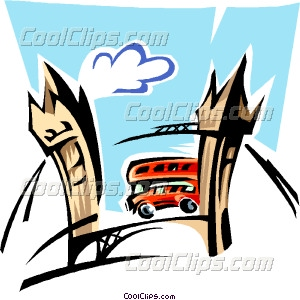 300x300 England By Bus Vector Clip Art