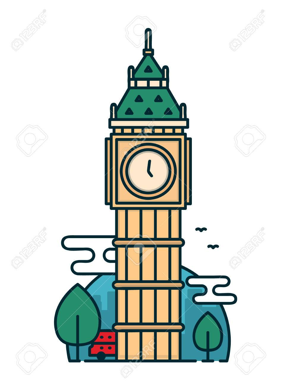 1000x1300 Collection Of Big Ben Clipart Outline High Quality, Free