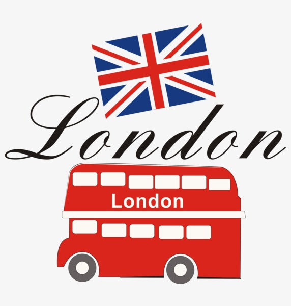 572x600 London Buses, Cartoon, United Kingdom, London Png Image