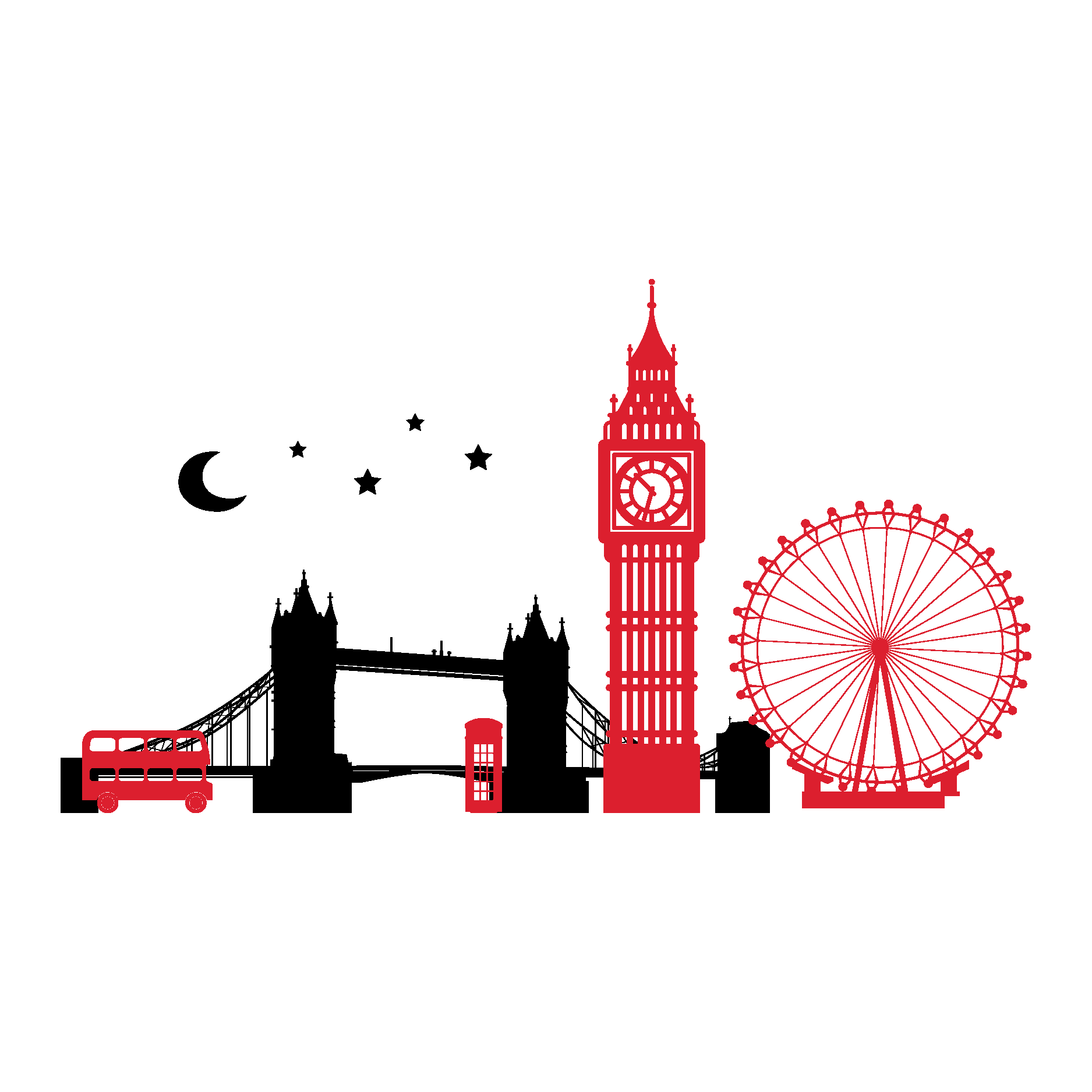 1875x1875 London Skyline Tattoos