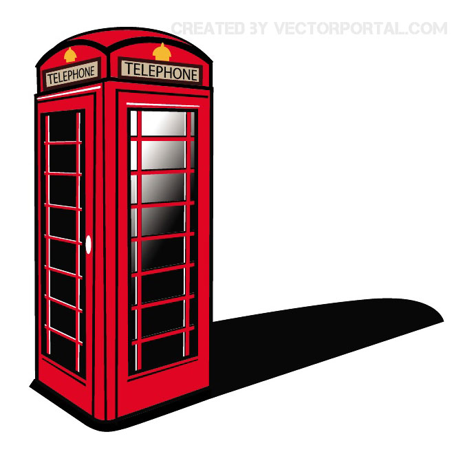 660x660 London Phone Booth Vector Clip Art
