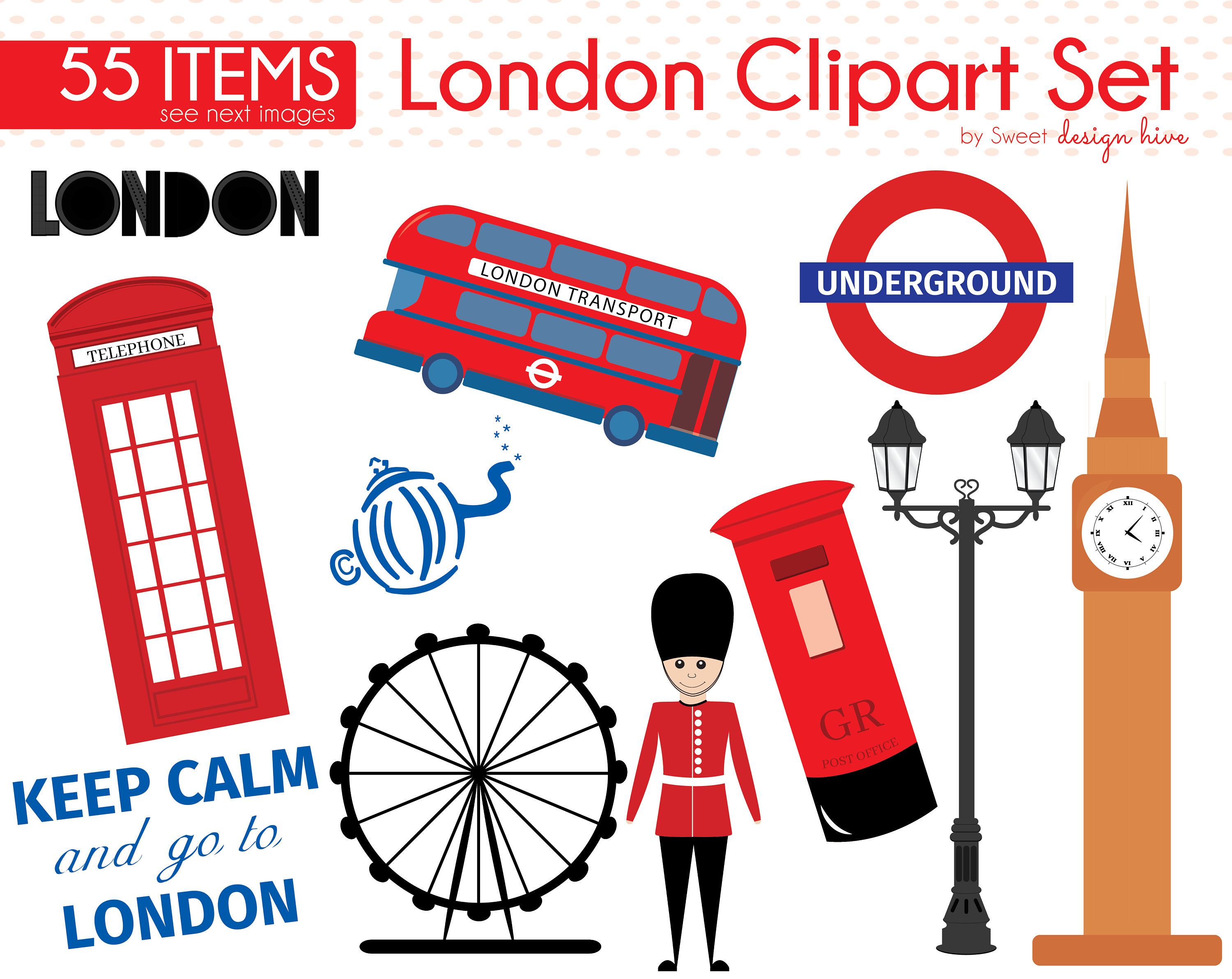 3000x2384 London Clipart Telephone Booth Clipart Queen's Guard