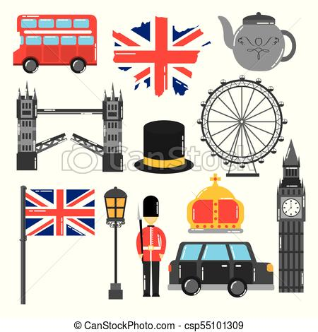 450x470 London England Toruism Travel Landmark Symbol Vector Vector