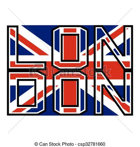 450x470 London Flag Color. British Flag Illustration. London Clip Art