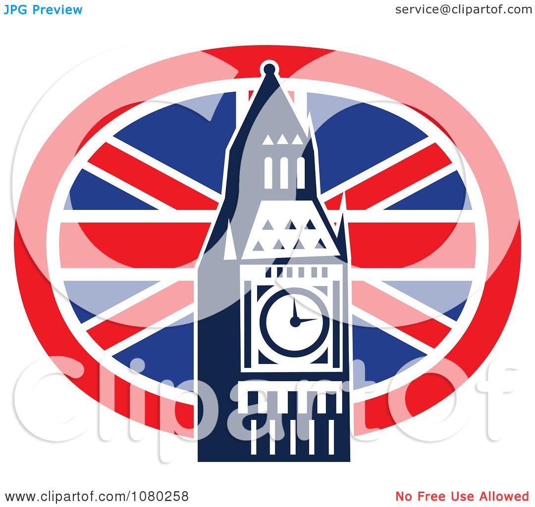 1080x1024 Clipart London Flag And Big Ben