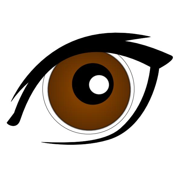 600x600 Eye Clipart Brown Hair