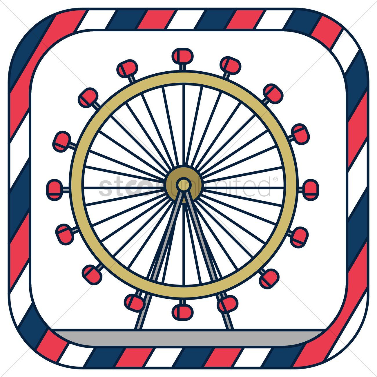 1300x1300 London Eye Vector Image