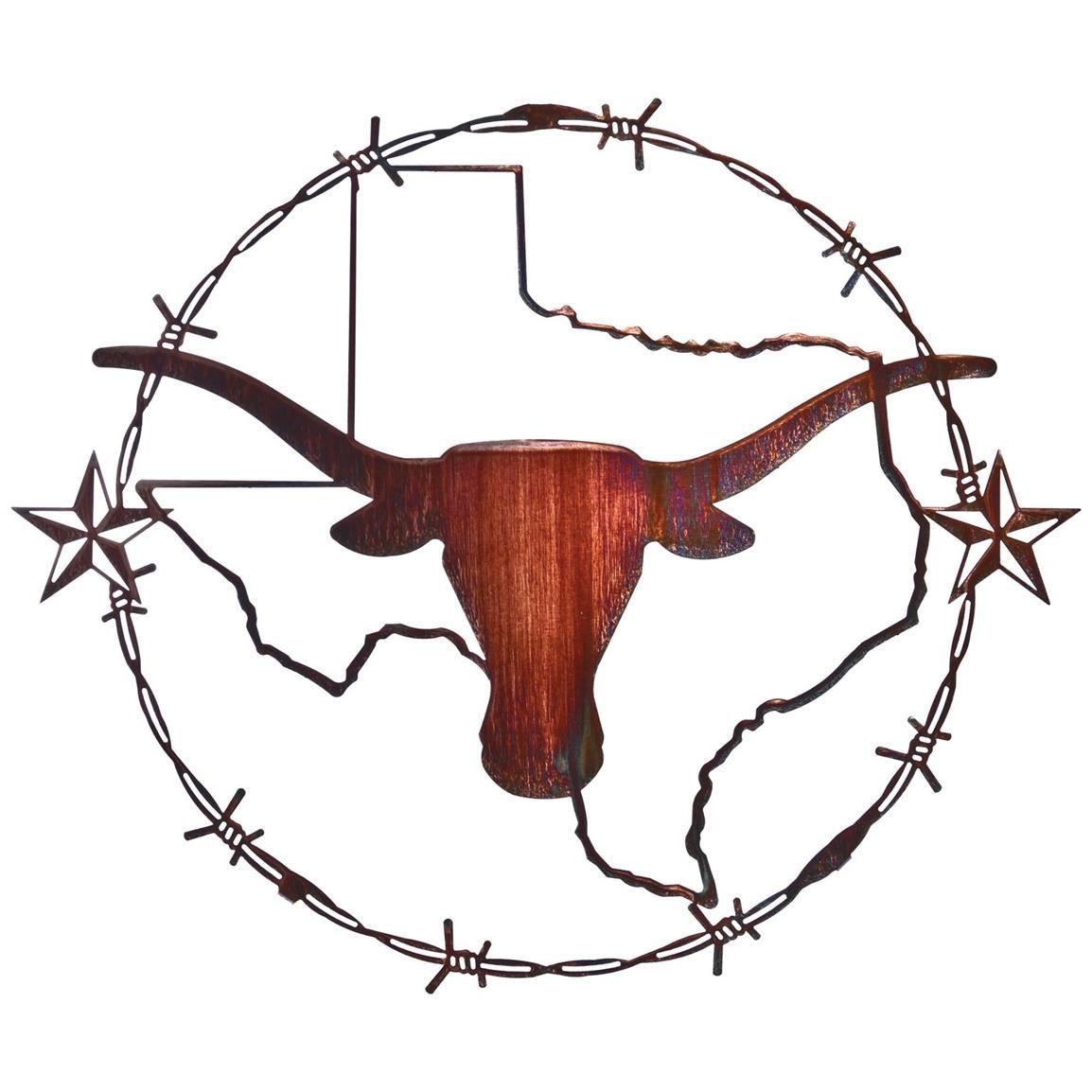 1154x1154 Texas Star Logo 19 Inch Texas Longhorn Wall Art