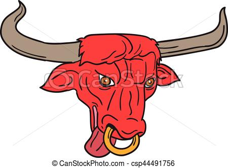 450x331 Texas Longhorn Red Bull Drawing. Drawing Sketch Style Clipart