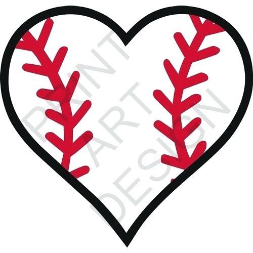 500x500 Baseball Cliparts Baseball Heart Baseball Heart Print Art Design
