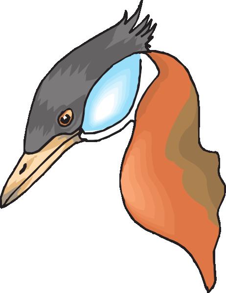 462x598 Long Necked Duck Head Clip Art
