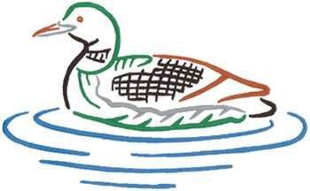 350x216 Loon Outline Embroidery Design Outlines, Embroidery Designs