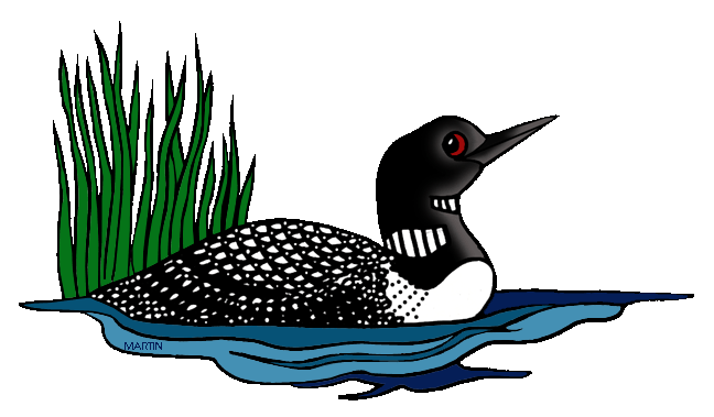 648x379 United States Clip Art By Phillip Martin, Minnesota State Bird