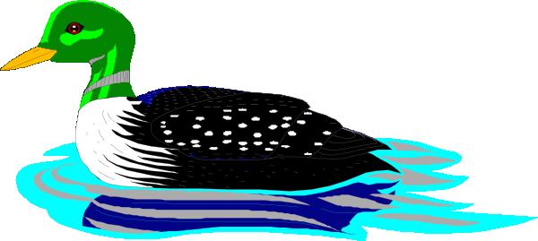 600x269 Loon Clip Art Swimming Loon Clip Art