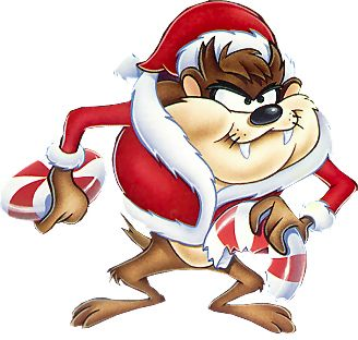 328x312 Christmas Taz Looney Tunes And Care Bears