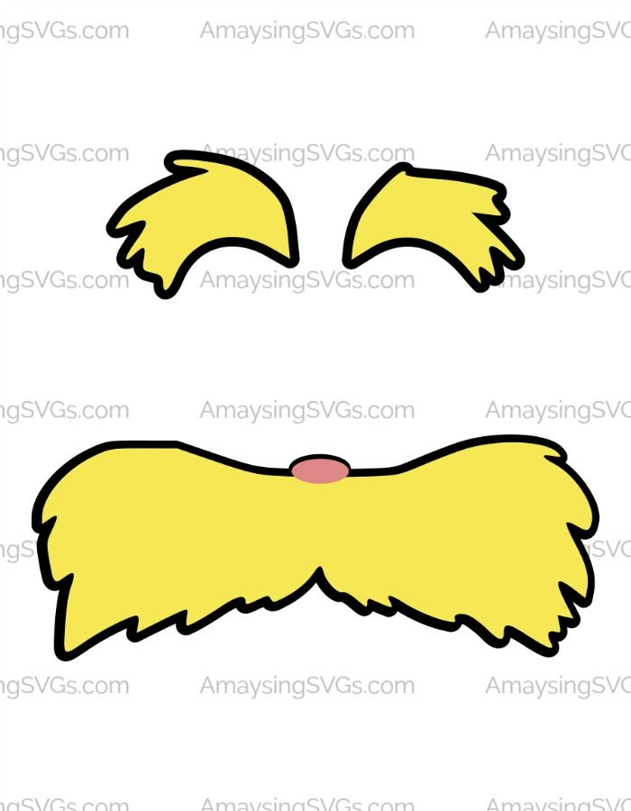 700x900 Lorax Clip Art Lorax Moustache And Eyebrows Svg Lorax And Cricut