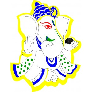 300x300 Lord Ganesh Embroidery Free Clipart 3