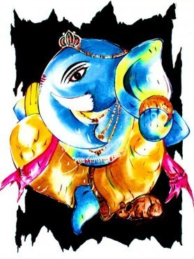 278x370 Lord Ganesha Oil Painting