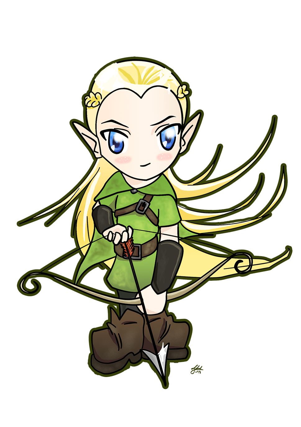 969x1375 Legolas Chibi With Bow By Tildhanor D6d4gtg.png Lord