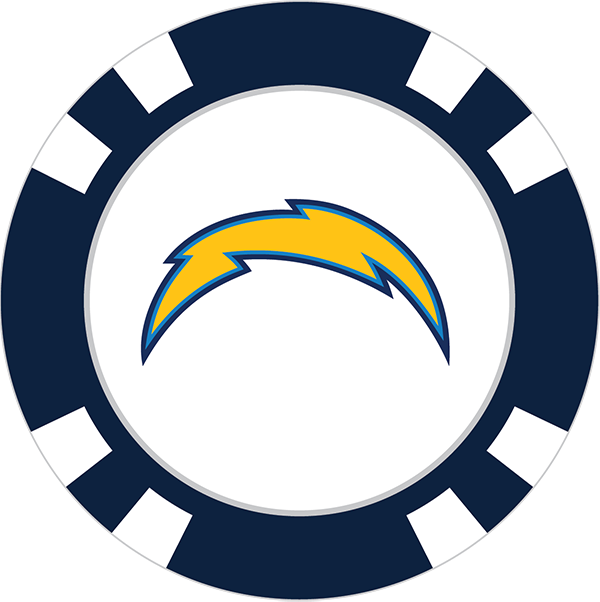 600x602 Los Angeles Chargers Poker Chip Ball Marker
