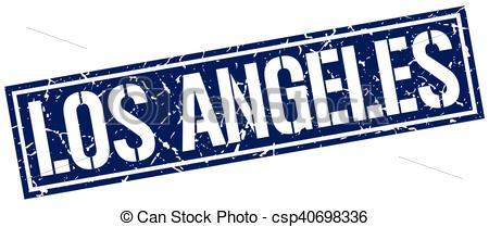 450x209 Los Angeles Blue Square Stamp Vectors