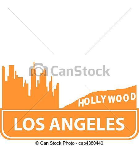 450x470 Los Angeles Outline. Vector Illustration For You Design Vector