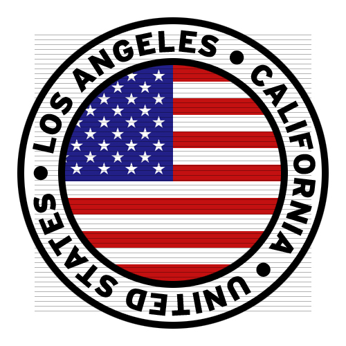 500x500 Round Los Angeles California United States Flag Clipart