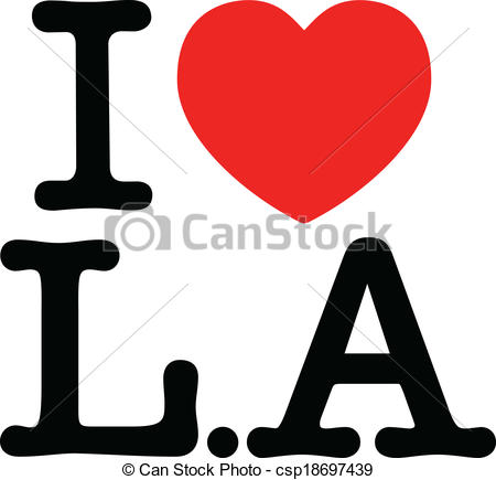 450x435 Vector Illustration Of I Love L.a (Los Angeles) Like The I