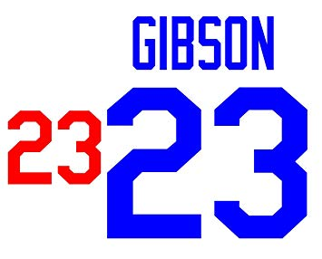 355x286 Kirk Gibson Los Angeles Dodgers Jersey Number Kit, Authentic Home