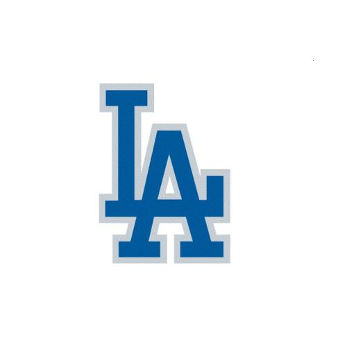 500x500 Los Angeles Dodgers Cap Logo Light Iron On Stickers (Heat